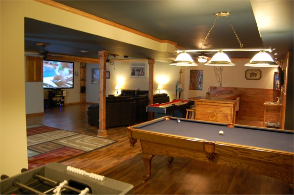 "Game Room 2/Foose/Pool/real Darts/Shuffle board/106""HDTV"