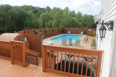 Our Beautiful Privately Fenced Heated Pool